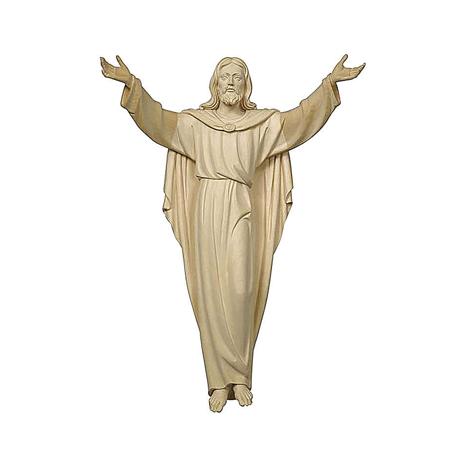 Estatua Cristo Resucitado madera natural 4