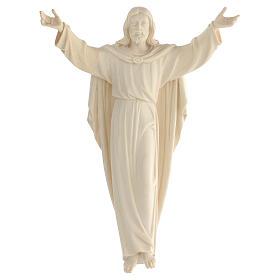 Estatua Cristo Resucitado madera natural s1