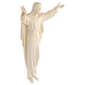 Estatua Cristo Resucitado madera natural s3