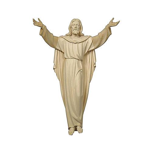 Estatua Cristo Resucitado madera natural 1