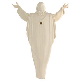 Statue Christ Ressuscité bois naturel s5