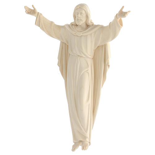 Statue Christ Ressuscité bois naturel 4