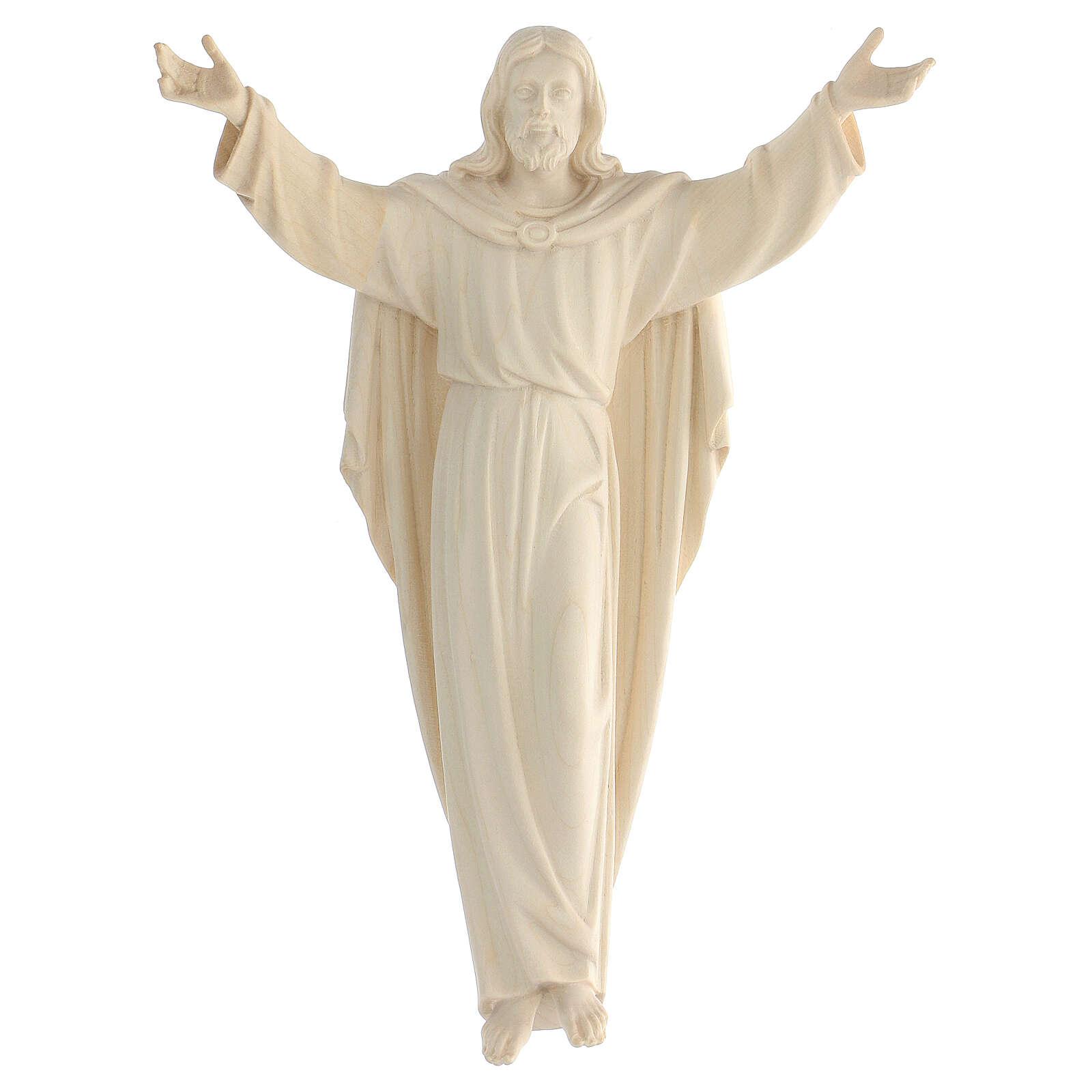 Statua Cristo Risorto legno naturale 4