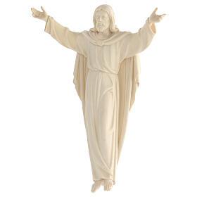 Imagem Cristo Ressuscitado madeira natural s4