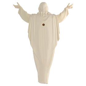 Imagem Cristo Ressuscitado madeira natural s5