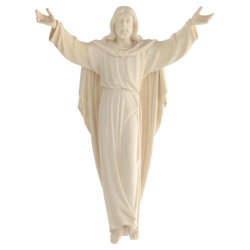 Imagem Cristo Ressuscitado madeira natural 1