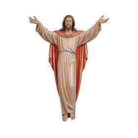 Imágenes de Madera Pintada: Estatua Cristo Resucitado coloreado Val Gardena