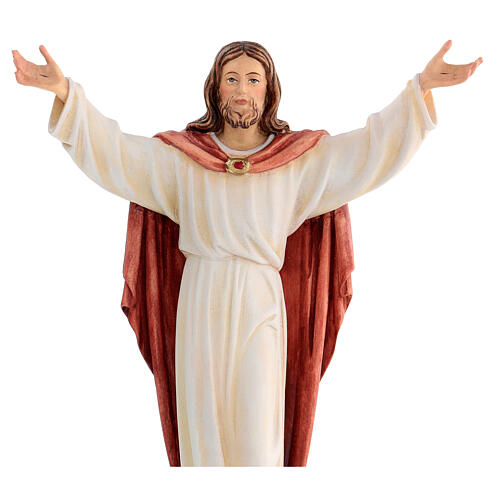 Estatua Cristo Resucitado coloreado Val Gardena