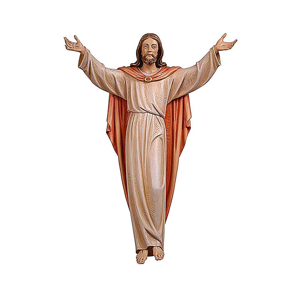 Statua Cristo Risorto colorato Val Gardena 4