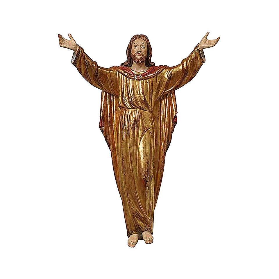 Christ Ressuscité tunique or massif vieilli 4