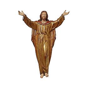 Christ Ressuscité tunique or massif vieilli s1