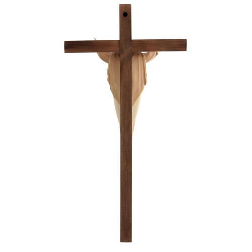 Statue Christ Ressuscité sur croix bruni 3 tons 5
