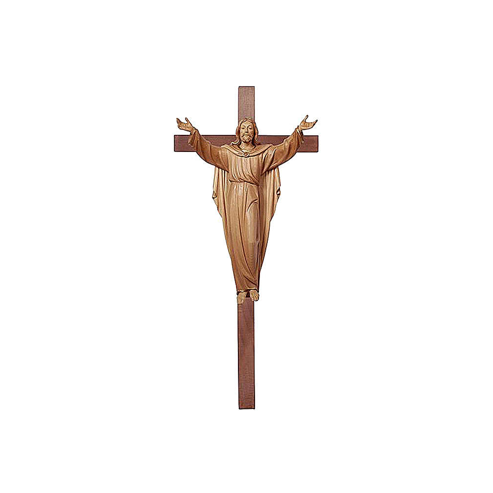 Statua Cristo Risorto su croce brunito 3 colori 4
