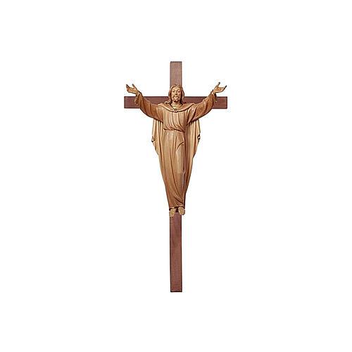 Statua Cristo Risorto su croce brunito 3 colori 1