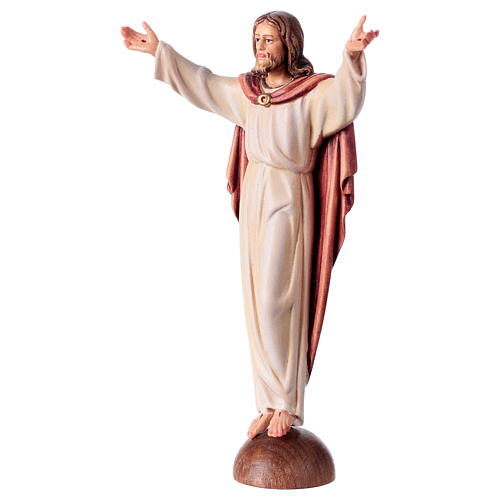 Estatua Cristo Resucitado sobre estante coloreada