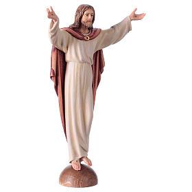 Statue Christ Ressuscité sur base coloré s3