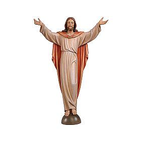 Statua Cristo Risorto su mensola colorato s1
