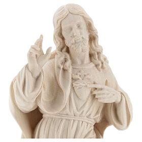 Sagrado Coração Jesus realístico madeira natural Val Gardena