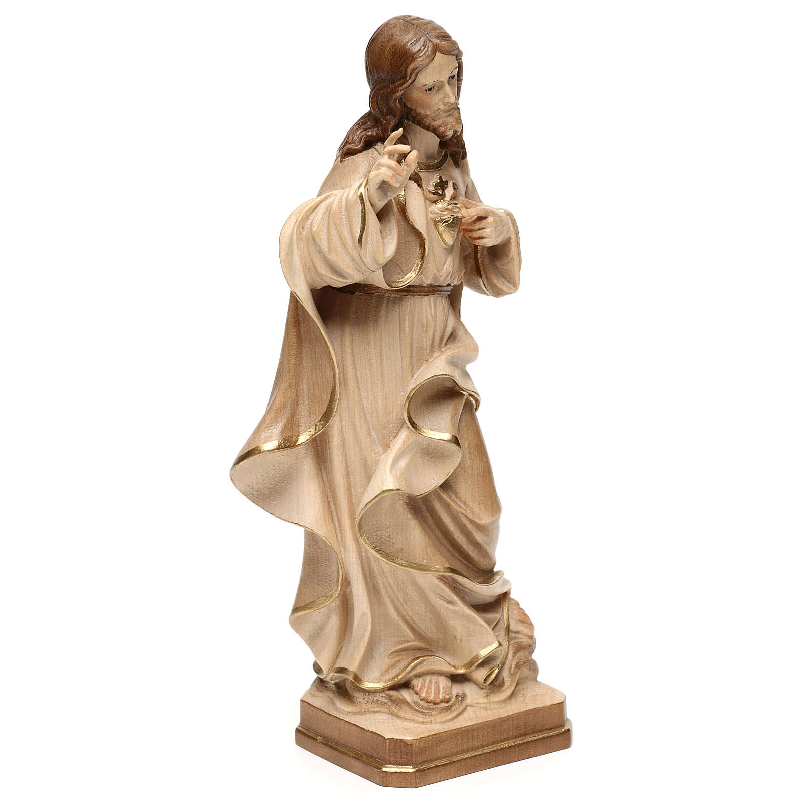 Sacred Heart of Jesus statue realistic style burnished in 3 colours 4
