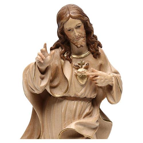 Sagrado Corazón Jesús realista bruñido 3 colores 2