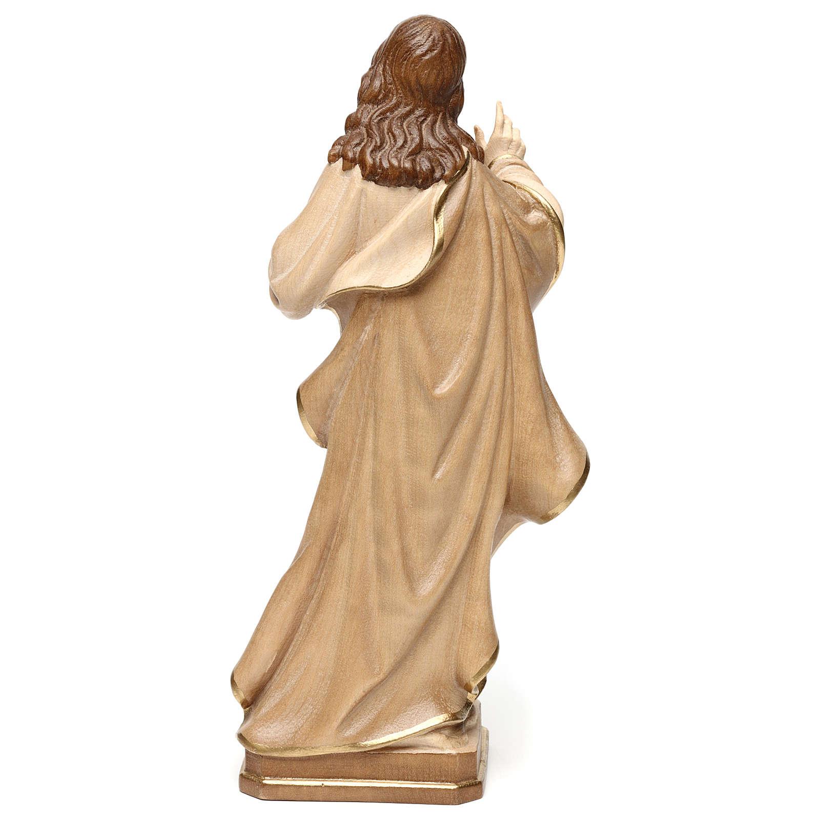 Statua Sacro Cuore Gesù realistico brunito 3 colori 4