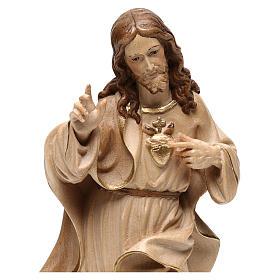 Statua Sacro Cuore Gesù realistico brunito 3 colori s2