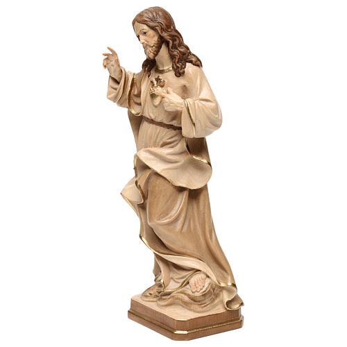 Statua Sacro Cuore Gesù realistico brunito 3 colori 3