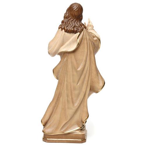 Statua Sacro Cuore Gesù realistico brunito 3 colori 5