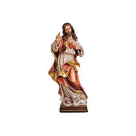 Sacro Cuore Gesù colorato Val Gardena realistico s1