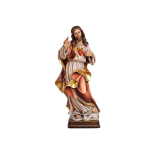 Sacro Cuore Gesù colorato Val Gardena realistico 1