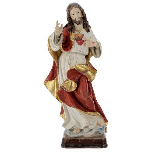 Sagrado Corazón Jesús oro de tíbar antiguo realístico 1
