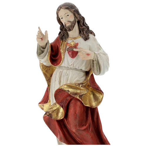 Sagrado Corazón Jesús oro de tíbar antiguo realístico 2