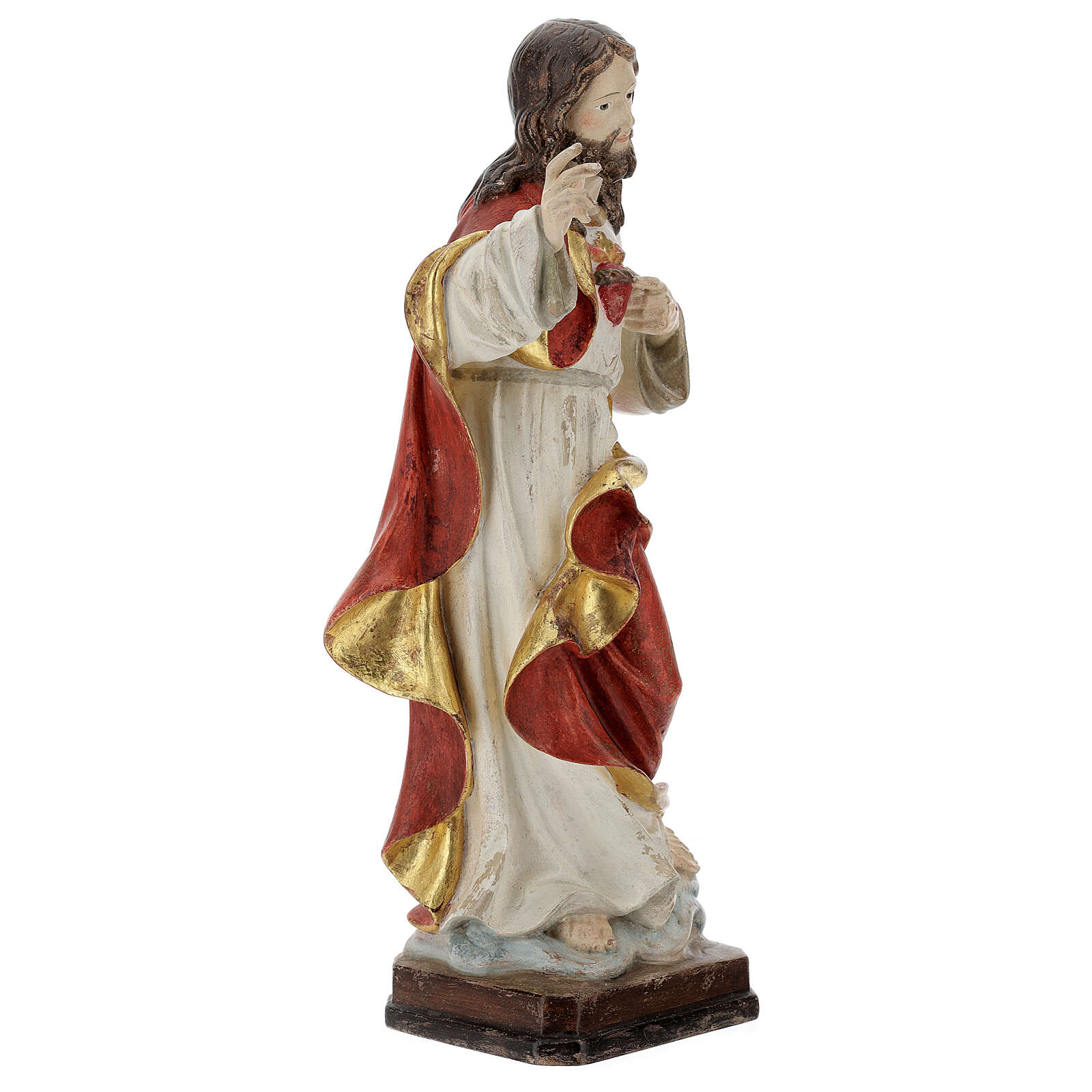 Sacred Heart of Jesus in antique pure gold realistic style 4
