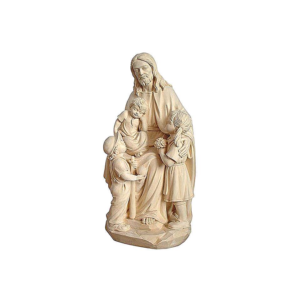 Gesù con Bambino legno naturale 4