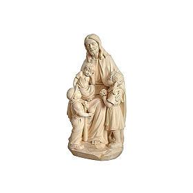 Gesù con Bambino legno naturale s1
