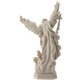 Saint Micheal of G. Reni in natural wood s6