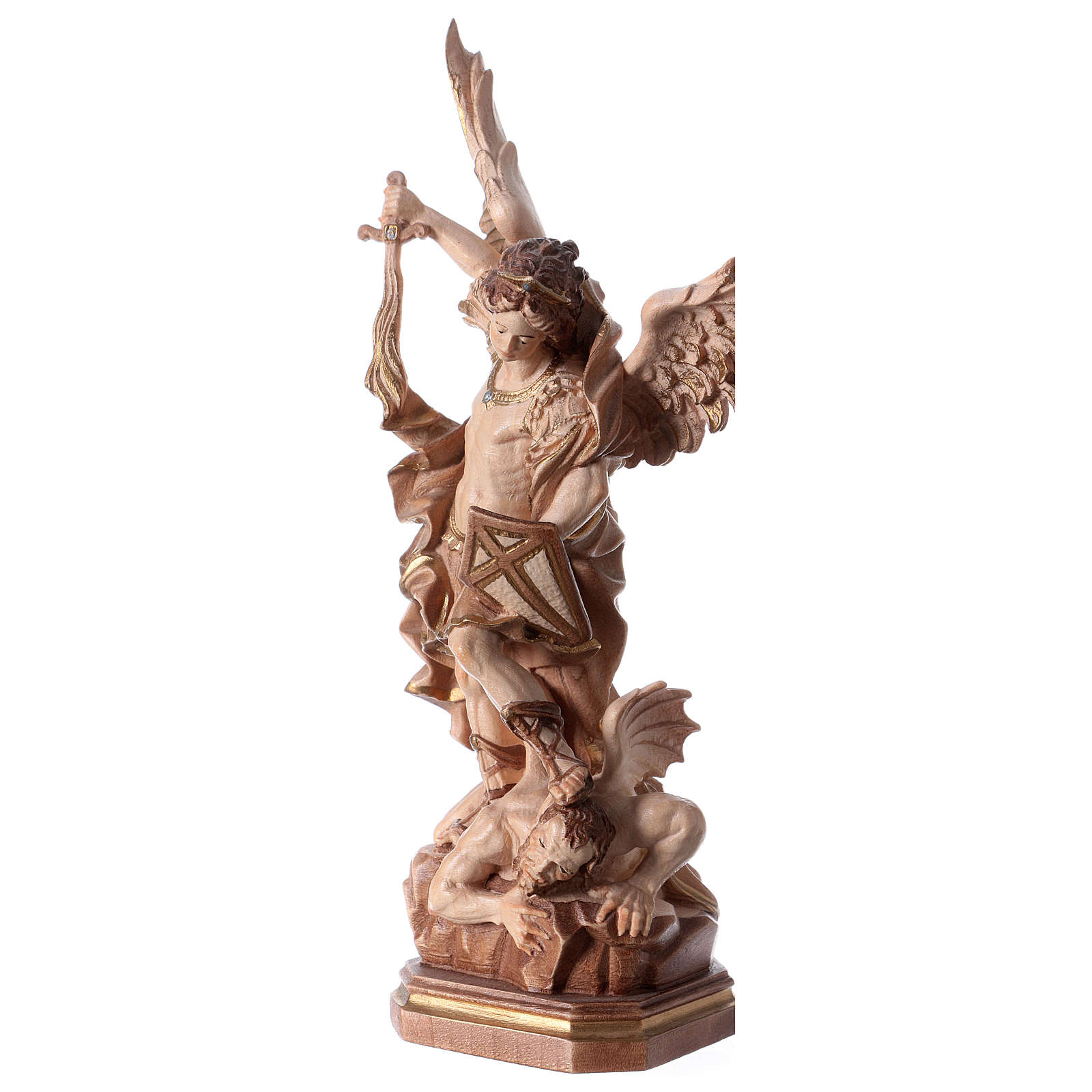 Saint Micheal of G. Reni statue burnished in 3 colours 4