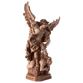 Saint Micheal of G. Reni statue burnished in 3 colours s5