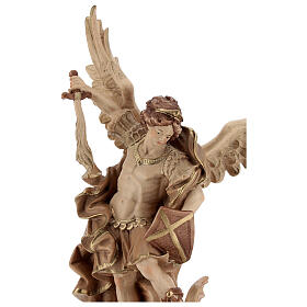 Saint Micheal of G. Reni statue burnished in 3 colours s2
