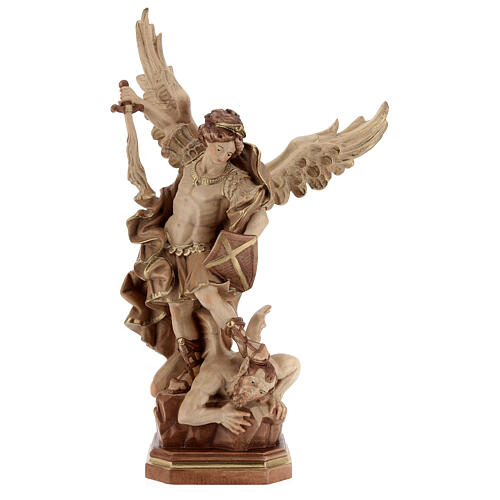 Saint Micheal of G. Reni statue burnished in 3 colours 1