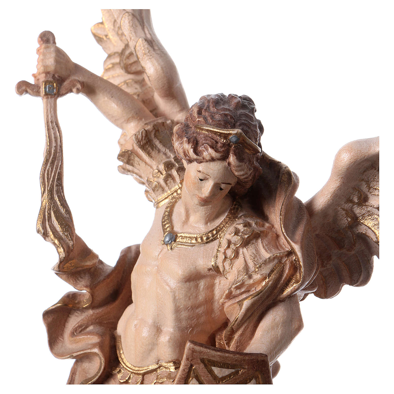 Statue Saint Michel G. Reni brunie 3 tons 4