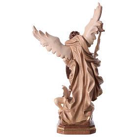 Statue Saint Michel G. Reni brunie 3 tons s6