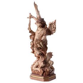 Statua San Michele G. Reni brunito 3 colori s4