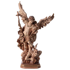 Saint Micheal of G. Reni statue burnished in 3 colours s1