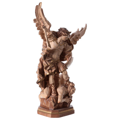 Saint Micheal of G. Reni statue burnished in 3 colours 5