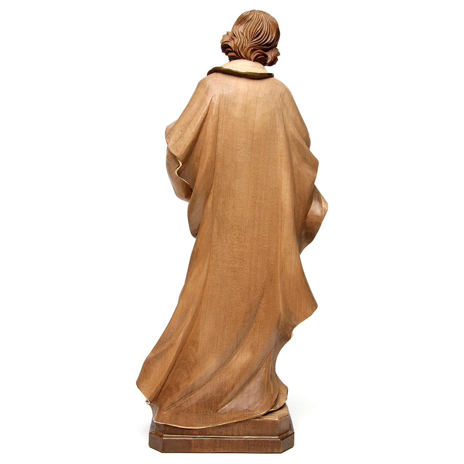 Statue Hl. Josef Grödnertal Holz braunfarbig 4
