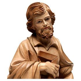 Statue Hl. Josef Grödnertal Holz braunfarbig s2