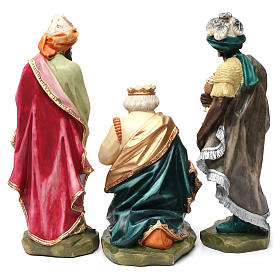 Statue Hl. Josef bemalten Grödnertal Holz s11