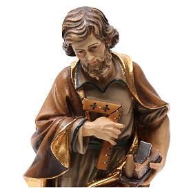 Statue Hl. Josef bemalten Grödnertal Holz s2