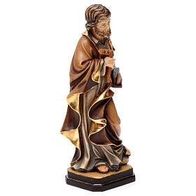 Statue Hl. Josef bemalten Grödnertal Holz s4